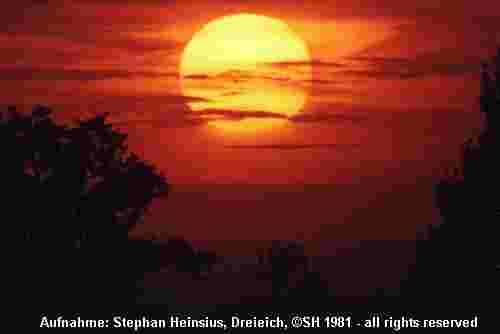 Oktobersonnenuntergang
