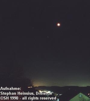 Mondfinsternis 1990 über Weil der Stadt
