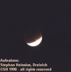 Mondfinsternis 1990 - zweite partielle Phase