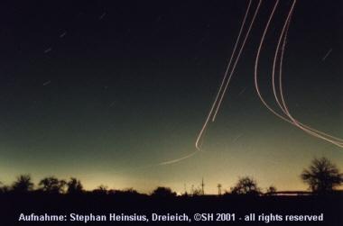 Flugzeugspuren 14.02.2001