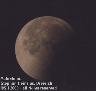 Mondfinsternis 2003 - zweite partielle Phase