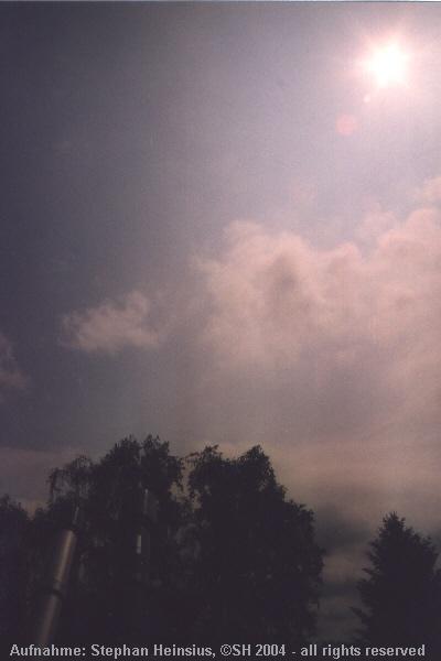 Wolkensituation vor Venusfinsternis