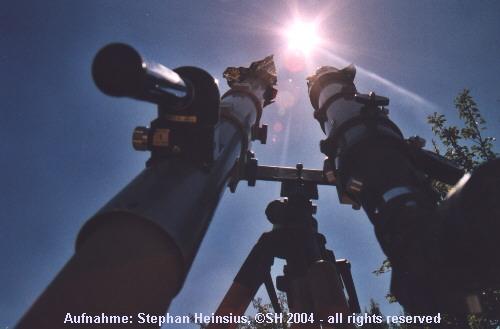 Teleskope und Sonne
