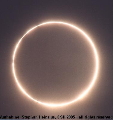 Panama Eclipse � The sun ring
