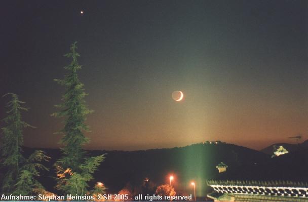 Mond und Venus über Manzanares