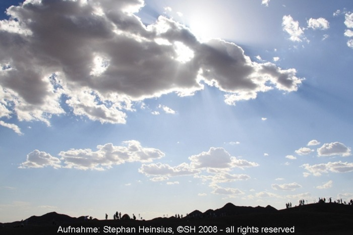 Himmel über der Wüste Gobi