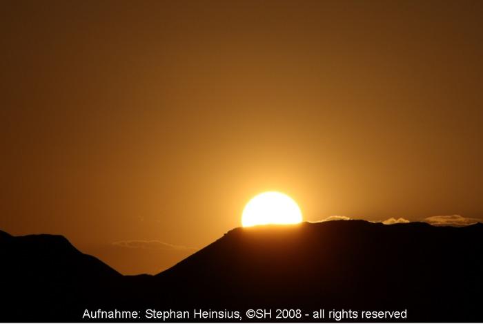Sonnenuntergang über der Wüste Gobi