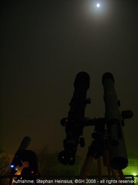 Mondfinsternis und Teleskope