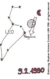 Zeichnung zu Mondfinsternis 1990