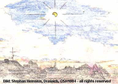 Drawing of the Solar Eclipse 1984